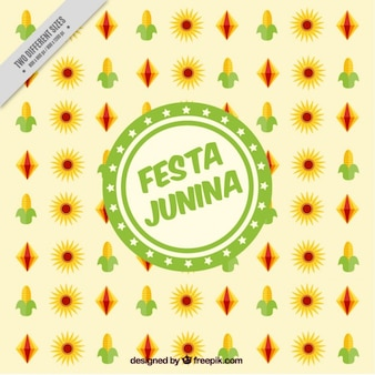 Festa junina background with typical elements