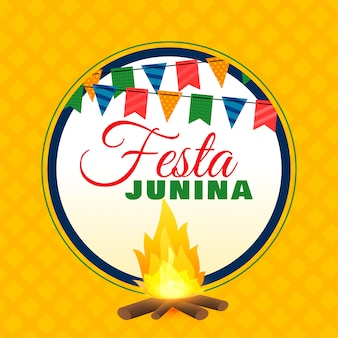 Festa junina bonfire