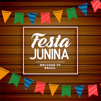 Festa junina brazilian june holiday background
