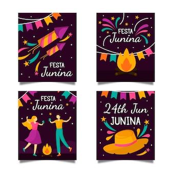 Festa junina card collection template