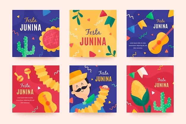 Festa junina card collection theme