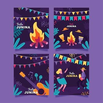 Festa junina card collection