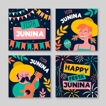 Festa junina card template concept