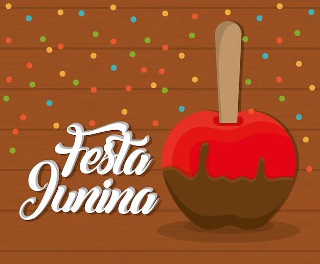 甘いリンゴのアイコンとフェスタジュナカード