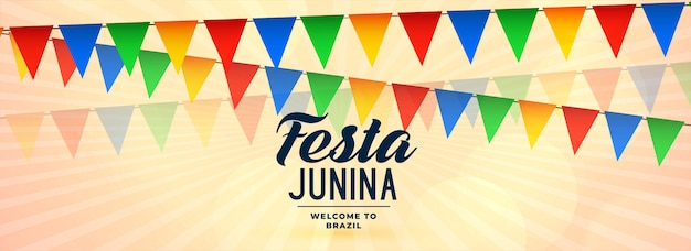 Festa junina carnival celebration banner design