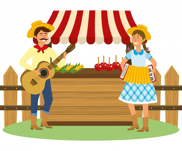 Festa junina cartoon