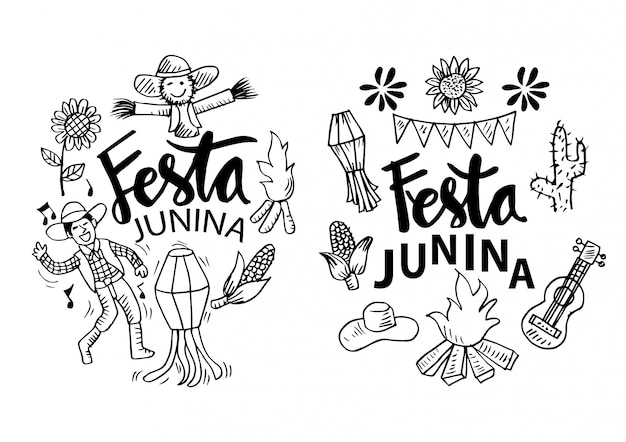 Festa junina cartoons
