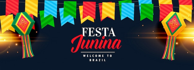 Festa junina celebration banner design