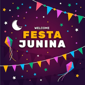 Festa junina celebration concept