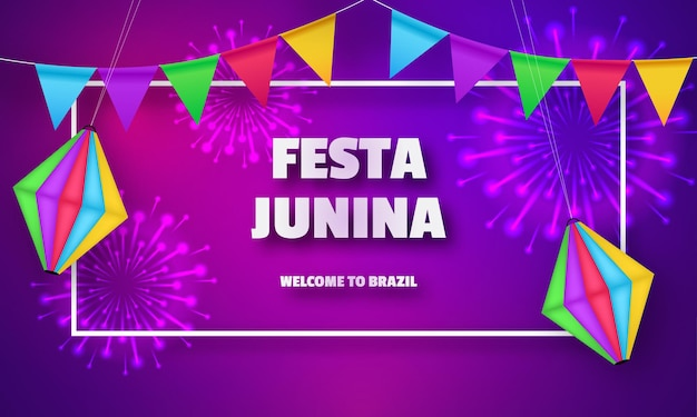Festa junina celebration design