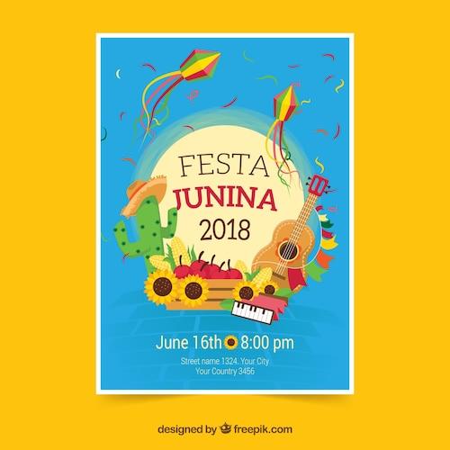 Festa junina celebration flyer