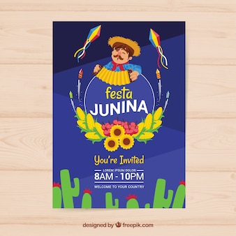 Festa junina celebration flyer