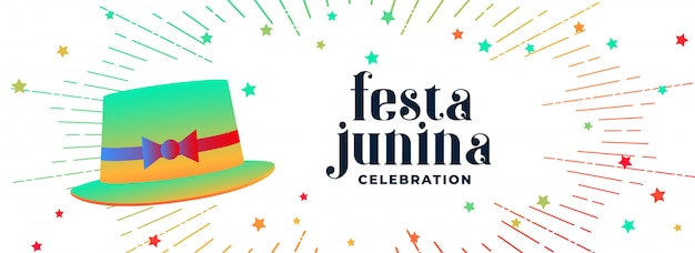 Festa junina celebration hat banner