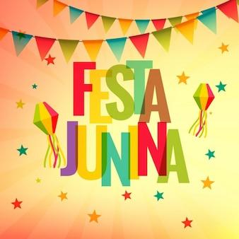 Festa junina background celebrazione festa