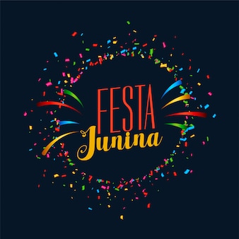 Festa junina celebration party card