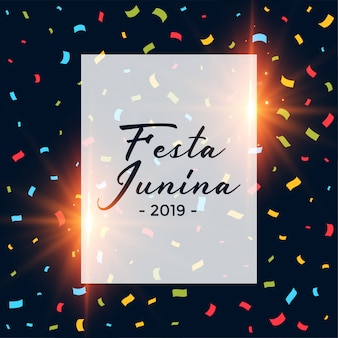Festa junina confetti dark background