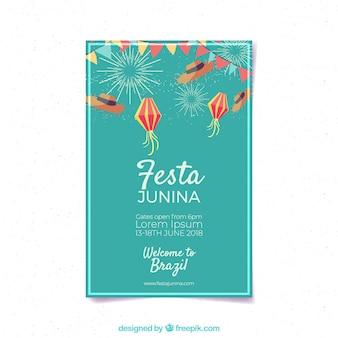 Шаблон обложки festa junina