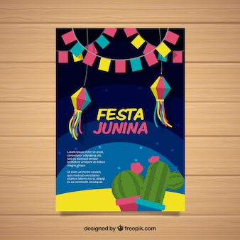 Festa junina cover template