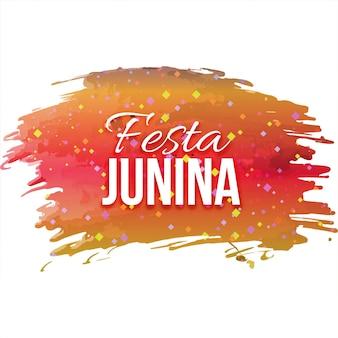 Festa junina design on colorful paint brushes
