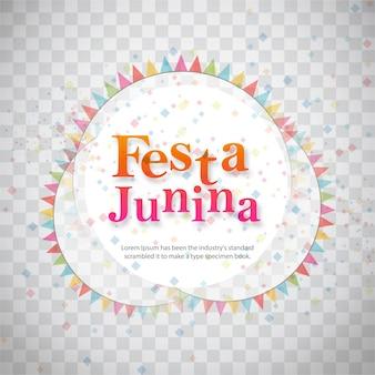 Festa junina design on transparent background