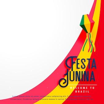 Festa junina design on wavy background