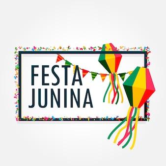Festa junina design with frame