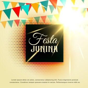 Festa junina design with halftone dots