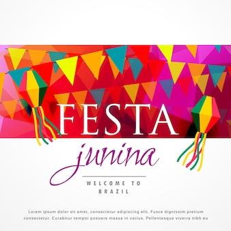 Festa junina design with text