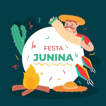 Festa junina event concept