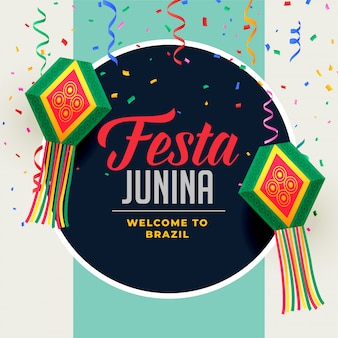 Festa junina festival background with decorative elements