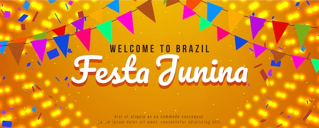 Festa junina festival celebration bright banner