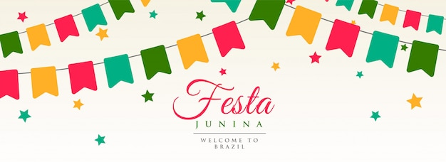 Festa junina flags garland decoration banner
