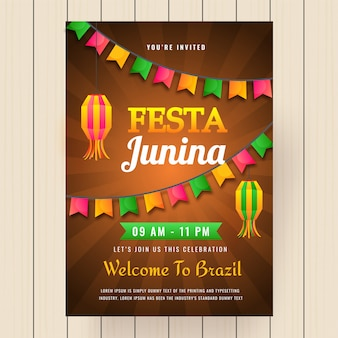 Festa junina holiday background.