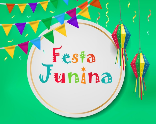 Праздничный шаблон festa junina