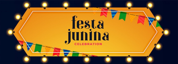 Festa junina lights decoration celebration banner