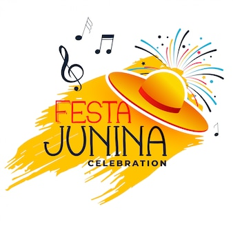 Festa junina music and hat
