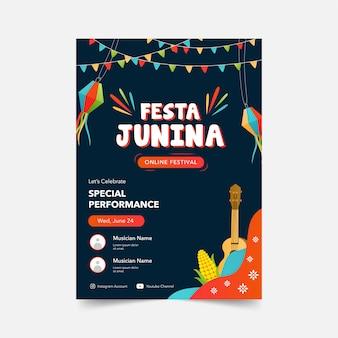 Festa junina online festival poster