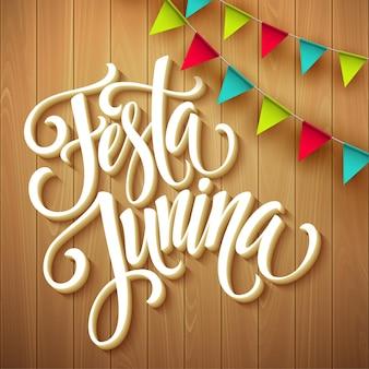 Festa junina party greeting design. eps10