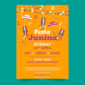Festa junina дизайн плаката