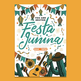 Шаблон постера festa junina