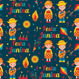 Festa junina seamless pattern.