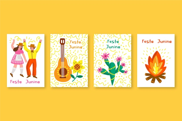 Festa junina template for card collection