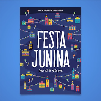 Festa junina template for poster