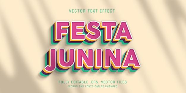 Festa junina text style effect