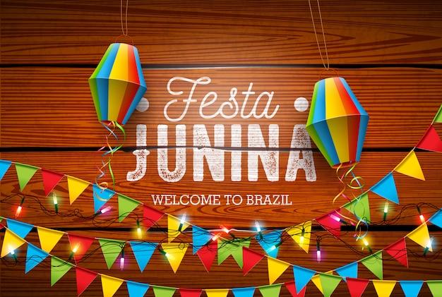 Festa junina traditional brazil june festival design