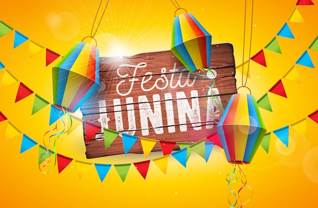 Festa junina traditional brazil june festival design