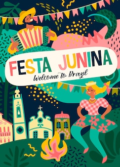 Festa junina. vector template
