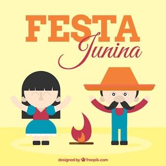 Festa junina with nice couple