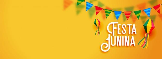 Festa junina латиноамериканский праздничный баннер