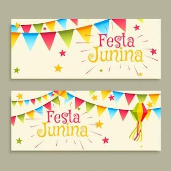 Festa junina празднование баннеры